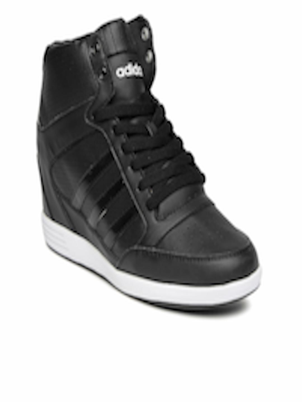 buy adidas neo women black super wedge sneakers casual