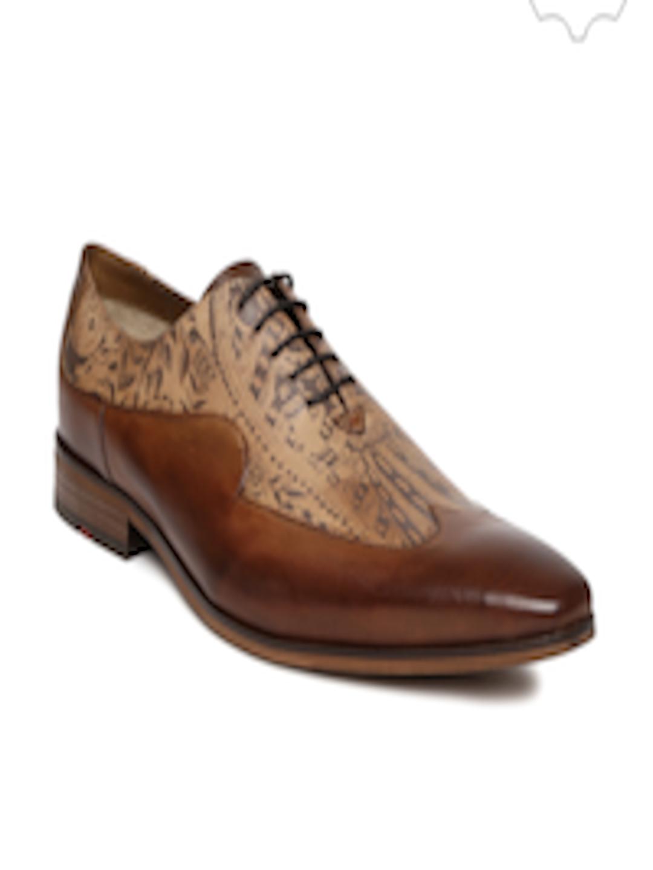 Buy Ruosh Men Tan Brown Printed Genuine Leather Semiformal Shoes - Formal Shoes for Men | Myntra