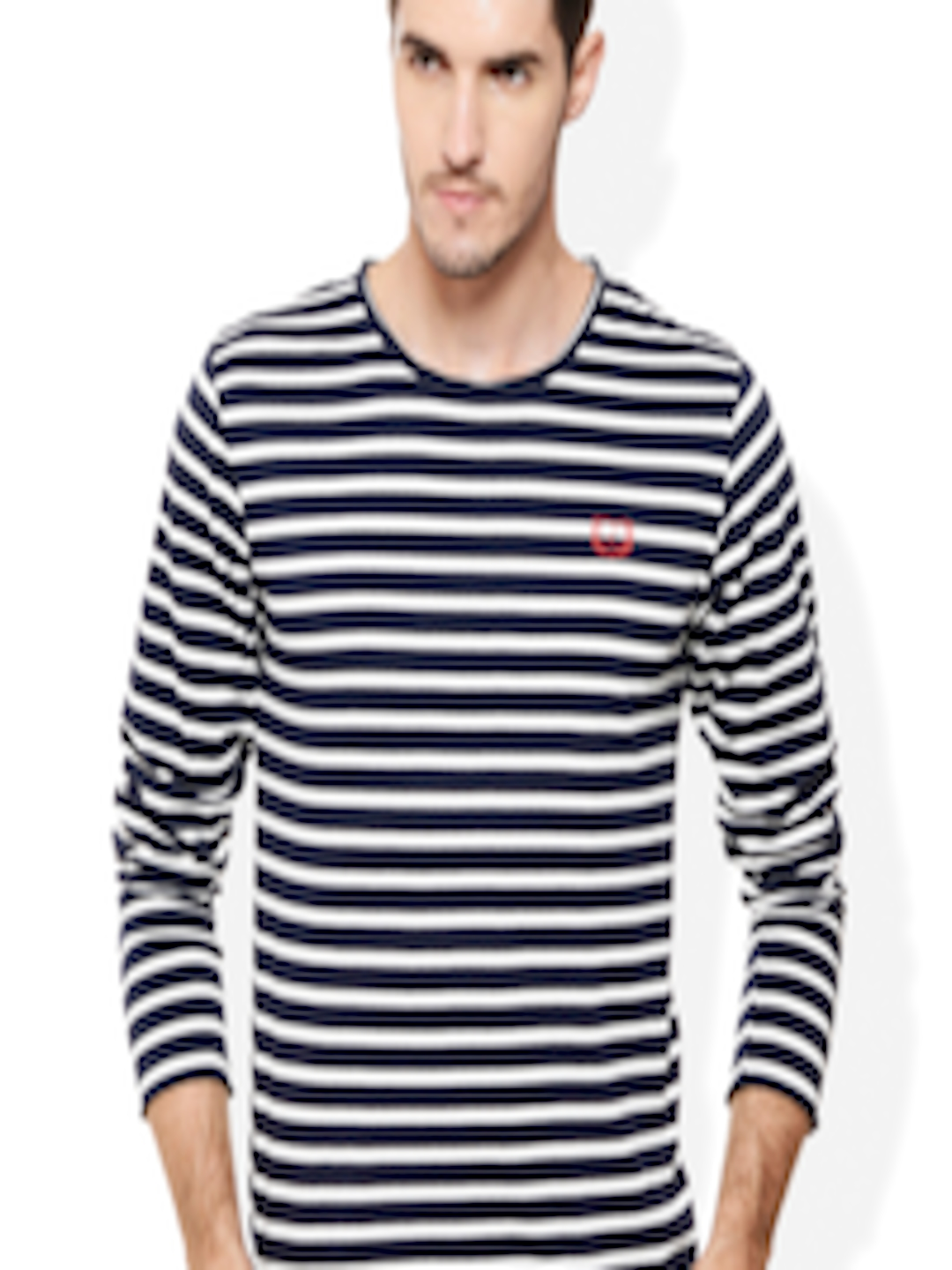 249b5d16cef Buy Rigo Navy   White Striped Smart Fit T Shirt - Tshirts for Men 1484682