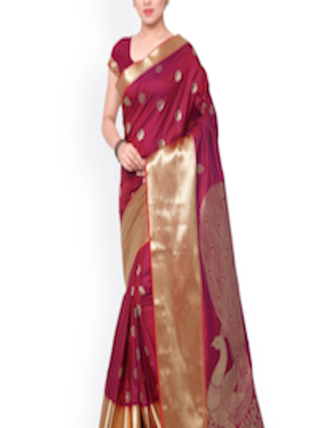 buy varkala silk sarees maroon kanjeevaram art silk. Black Bedroom Furniture Sets. Home Design Ideas