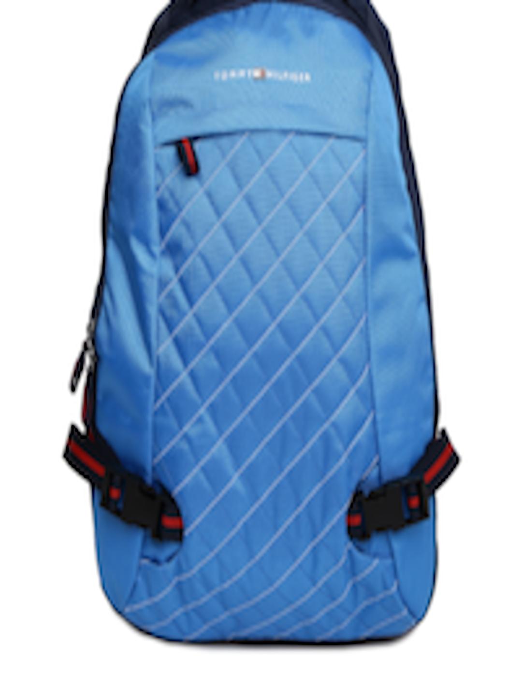 Buy Tommy Hilfiger Unisex Blue Colourblocked Backpack