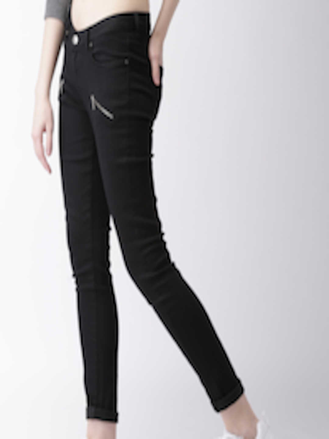 Buy Ms Taken By Kriti Sanon Women Black Skinny Fit Low
