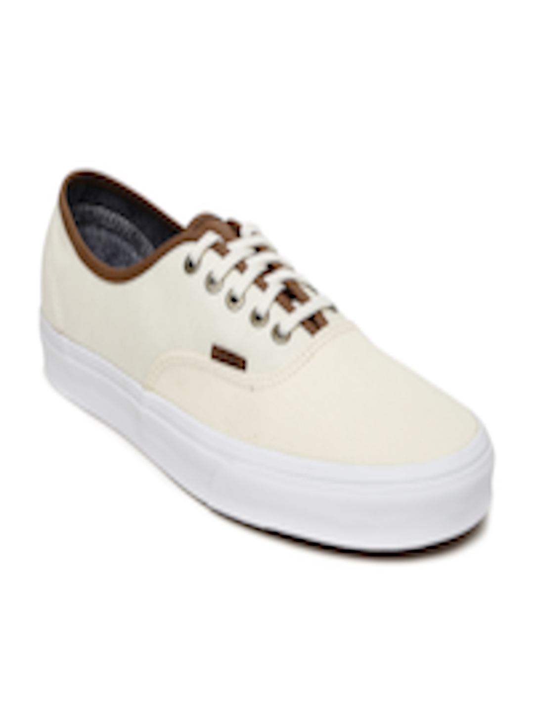 b43085cc422e19 Buy Vans Unisex Cream Coloured Authentic Sneakers - Casual Shoes for ...