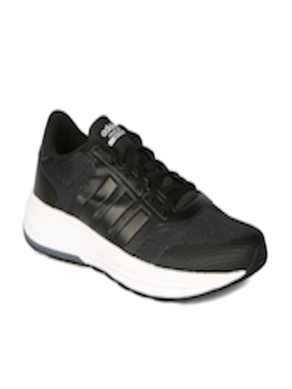 buy online 051d5 748fe Buy ADIDAS NEO Men Black Cloudfoam Saturn Sneakers - Casual Shoes for Men  1501349  Myntra
