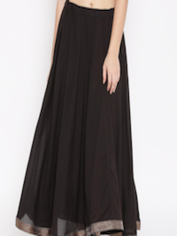 Buy Biba Black Flared Maxi Skirt Skirts For Women