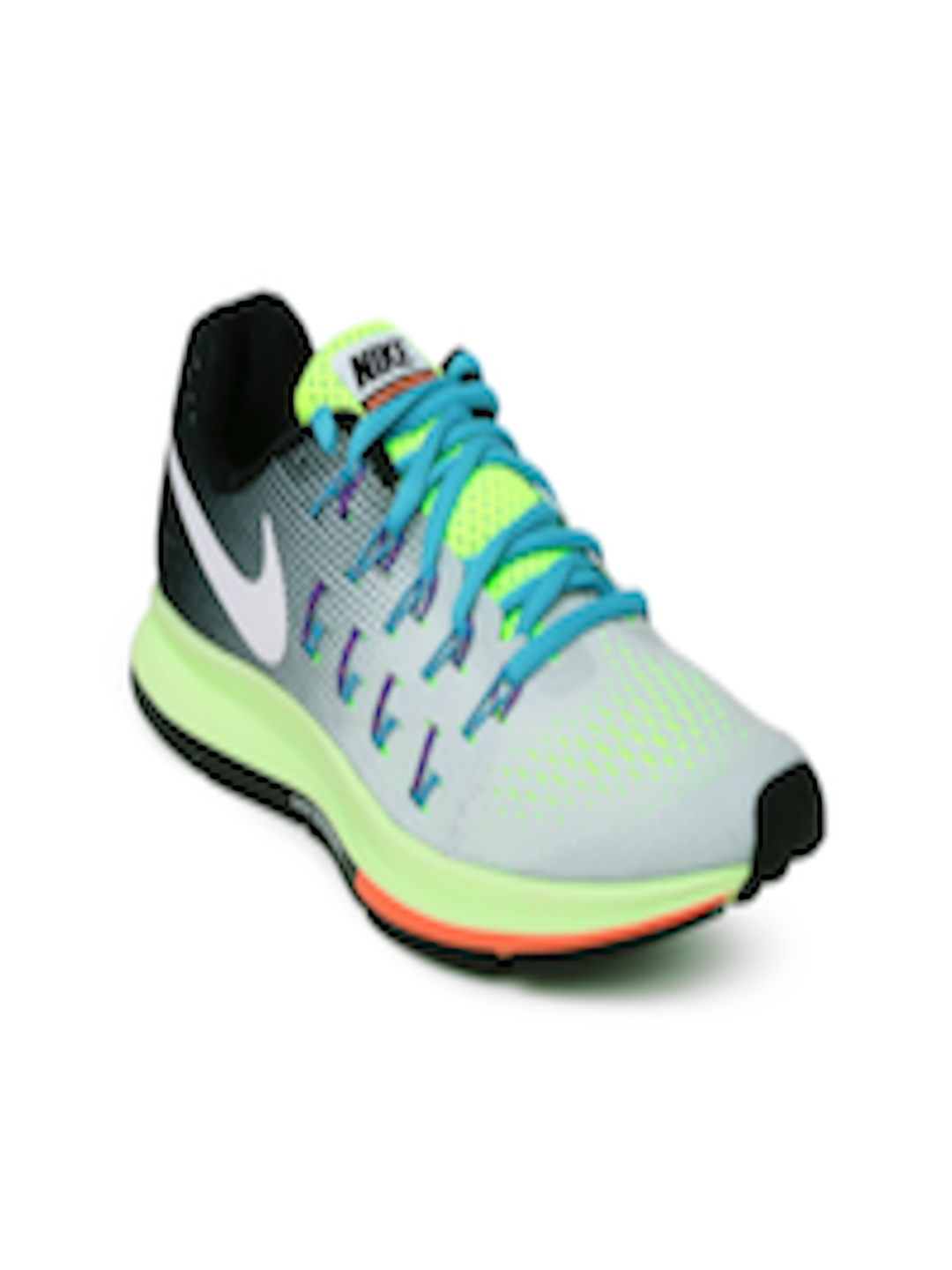 Buy Nike Women Grey & Fluorescent Green Air Zoom Pegasus 33 Running Shoes -  Sports Shoes for Women | Myntra