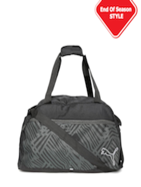 Buy PUMA Unisex Black Printed Echo Sports Duffel Bag - Duffel Bag for Unisex  1564505  281aab00c31c0