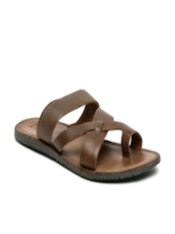 ad09a77cd26 Buy Estd. 1977 Men Brown Leather Sandals - Sandals for Men 1566592 ...