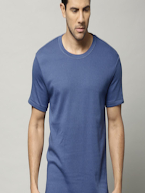 Buy Marks Spencer Men Blue Cotton Rich Thermal T Shirt