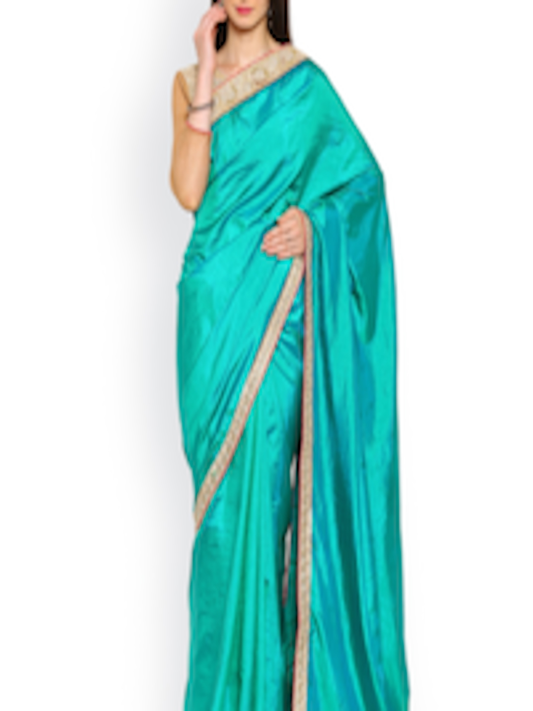 buy moiaa green embroidered bhagalpuri silk saree sarees. Black Bedroom Furniture Sets. Home Design Ideas