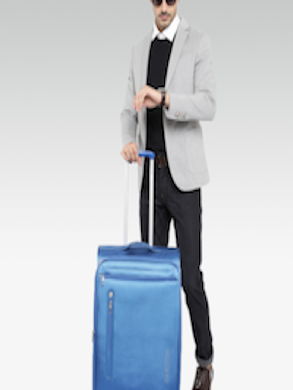 900d5d7ee Buy CARLTON Unisex Blue Nova Spinner Medium Trolley Bag - Trolley Bag for  Unisex 1603037   Myntra