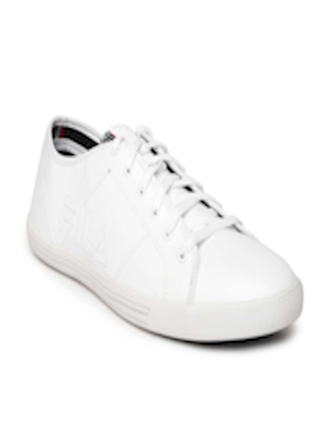 3b40a3b15157 Buy FILA Men White Solid Pride Sneakers - Casual Shoes for Men 1618135