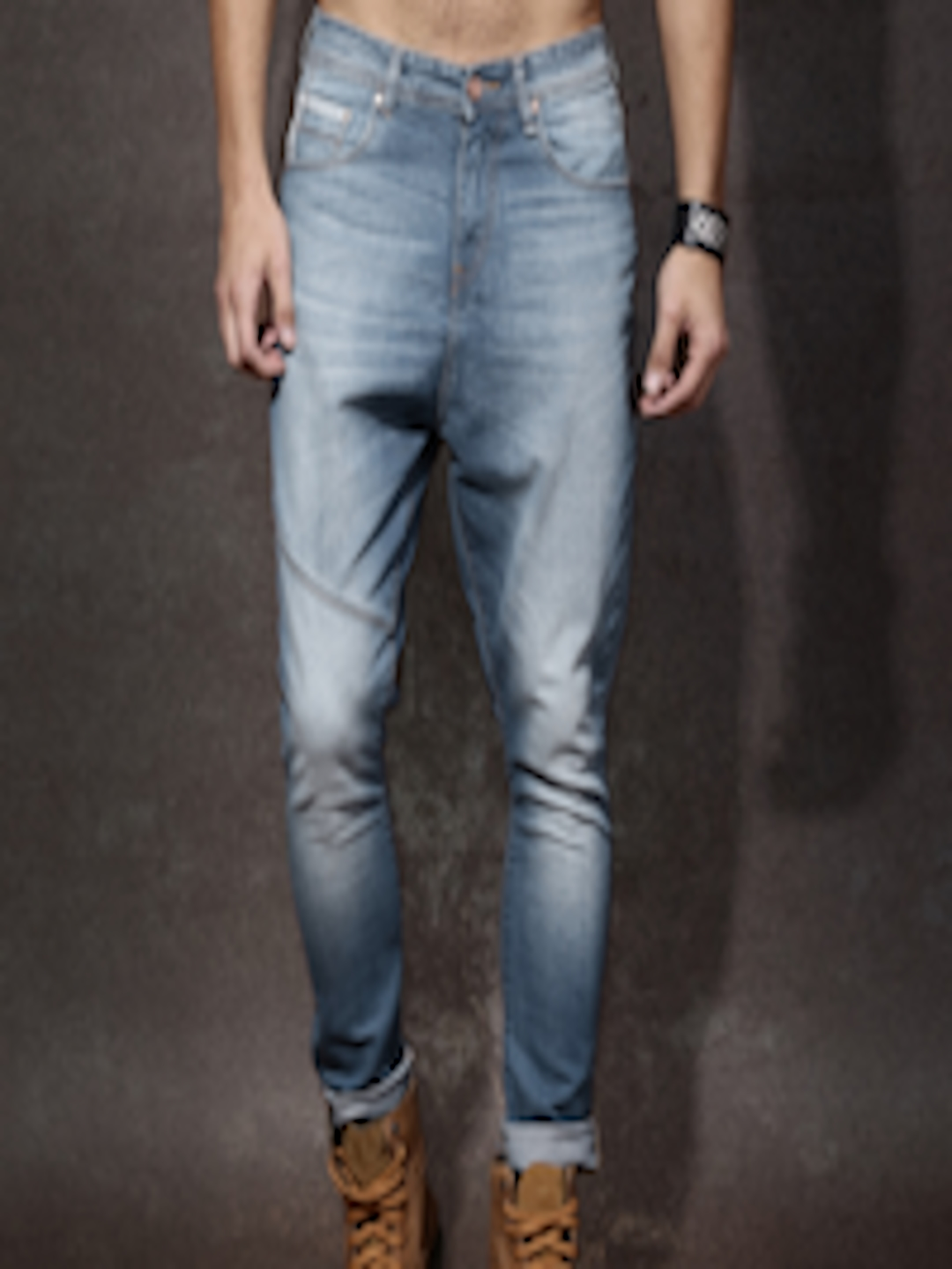 Buy Roadster Men Blue Skinny Fit Low Crotch Low Rise