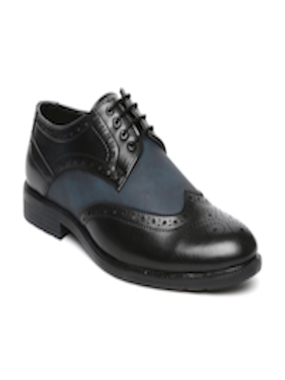 Buy Bata Men Black Amp Blue Leather Brogues Formal Shoes
