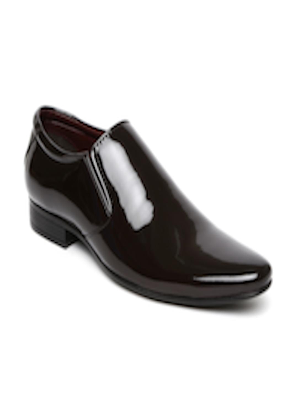 Buy Bata Men Brown Patent Leather Slip Ons Formal Shoes
