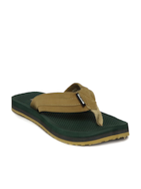 Buy Duke Men Brown  Olive Green Flip Flops - Flip Flops -3270
