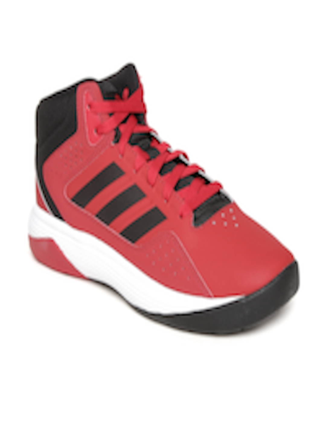 09a4c9a37fb6 Buy ADIDAS NEO Men Red Cloudfoam Ilation Mid Top Basketball Shoes - Sports  Shoes for Men 1639614