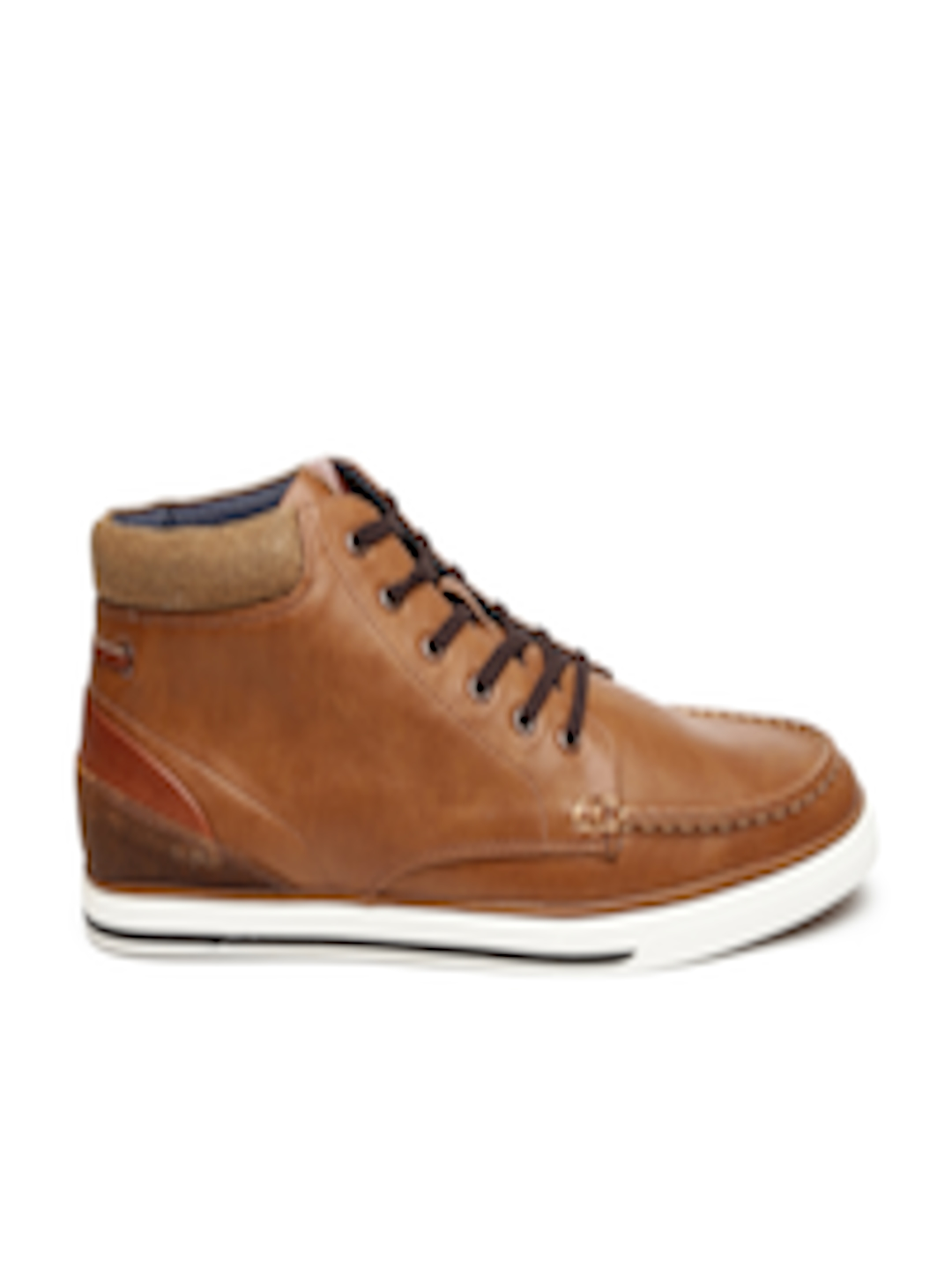 Buy Aldo Men Brown Solid Leather Sneakers Casual Shoes