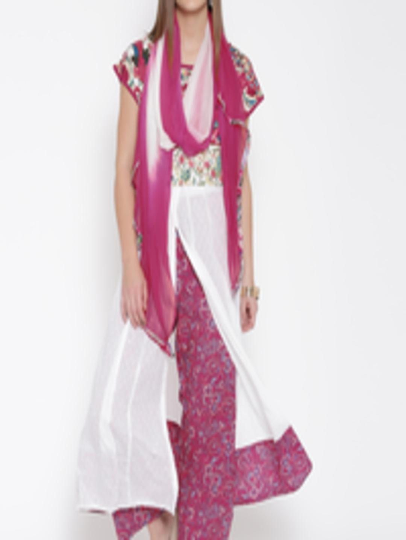 Ihram Kids For Sale Dubai: Buy Biba White & Magenta Printed Anarkali Kurta With