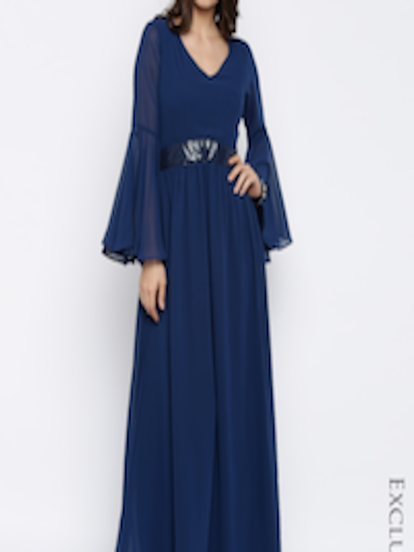 11781e5bfeb Buy RARE Women Navy Solid Maxi Dress - Dresses for Women 1644913 ...