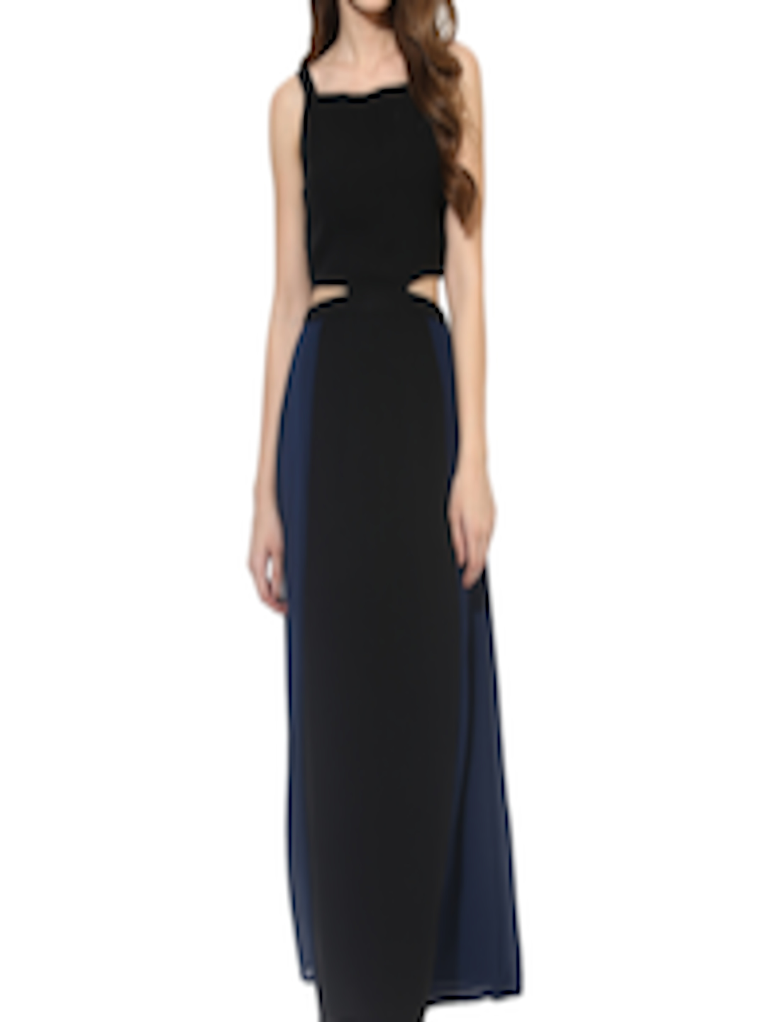 f9eaab422700 Buy Besiva Women Black   Navy Colourblock Maxi Dress - Dresses for Women  1645225