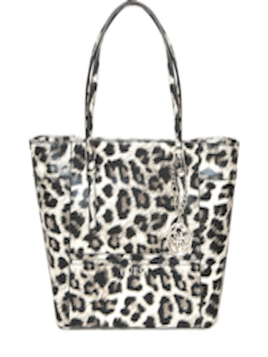 7ec80dd211c2 Buy GUESS Black & Beige Leopard Print Shoulder Bag - Handbags for Women  1668082 | Myntra