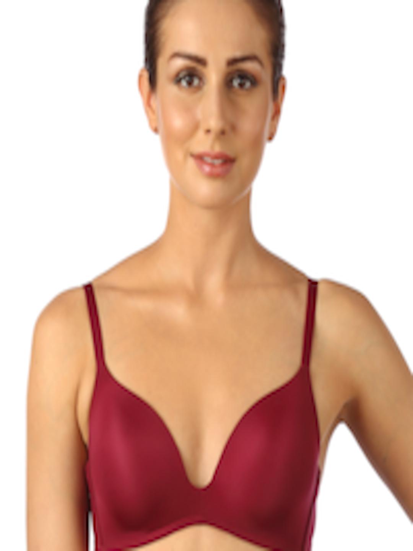 Buy triumph maroon medium coverage t shirt bra for Triumph t shirt bra