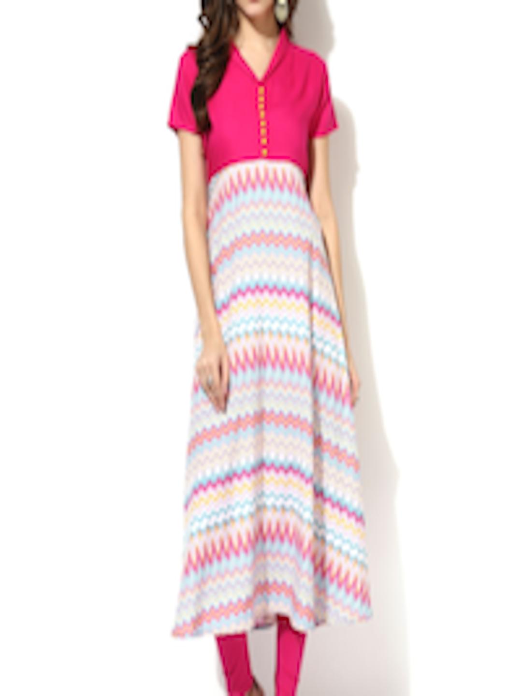 6314bdc1f Buy AKS Women Multicoloured Printed A Line Kurta - Kurtas for Women 1695553