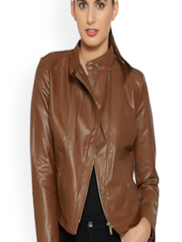 Buy Kraus Jeans Brown Biker Jacket - Jackets for Women ...