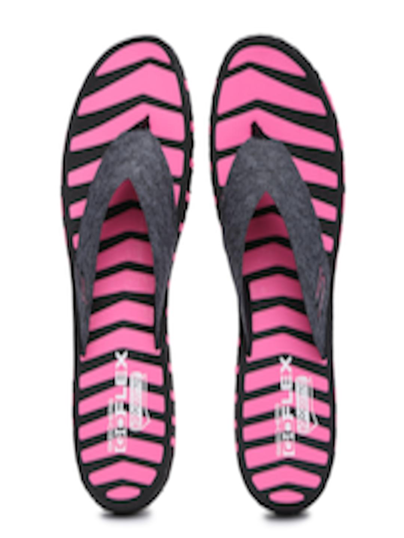 5b4dfe996eecb7 Buy Skechers Women Black   Pink Go Flex Vitality Striped Flip Flops - Flip  Flops for Women 1715196