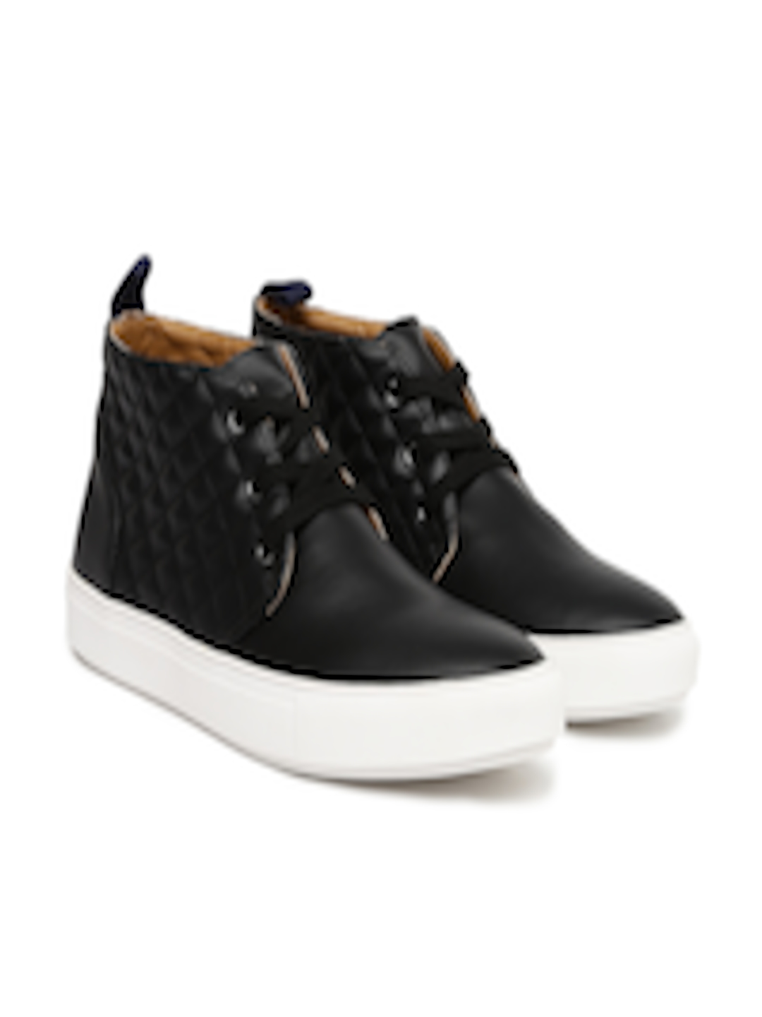 a720355bfc3 Buy Steve Madden Men Black Quilted Mid Top Sneakers - - Footwear for Men