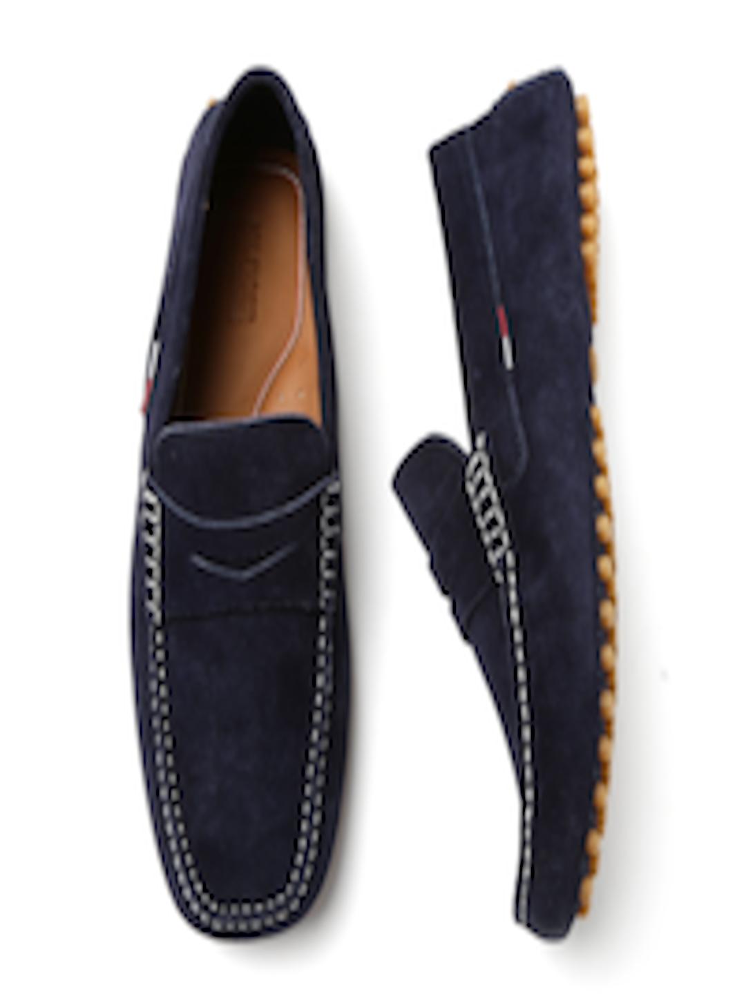 760c877412edde Buy Tommy Hilfiger Men Navy Blue Solid Suede Driving Shoes - Casual ...