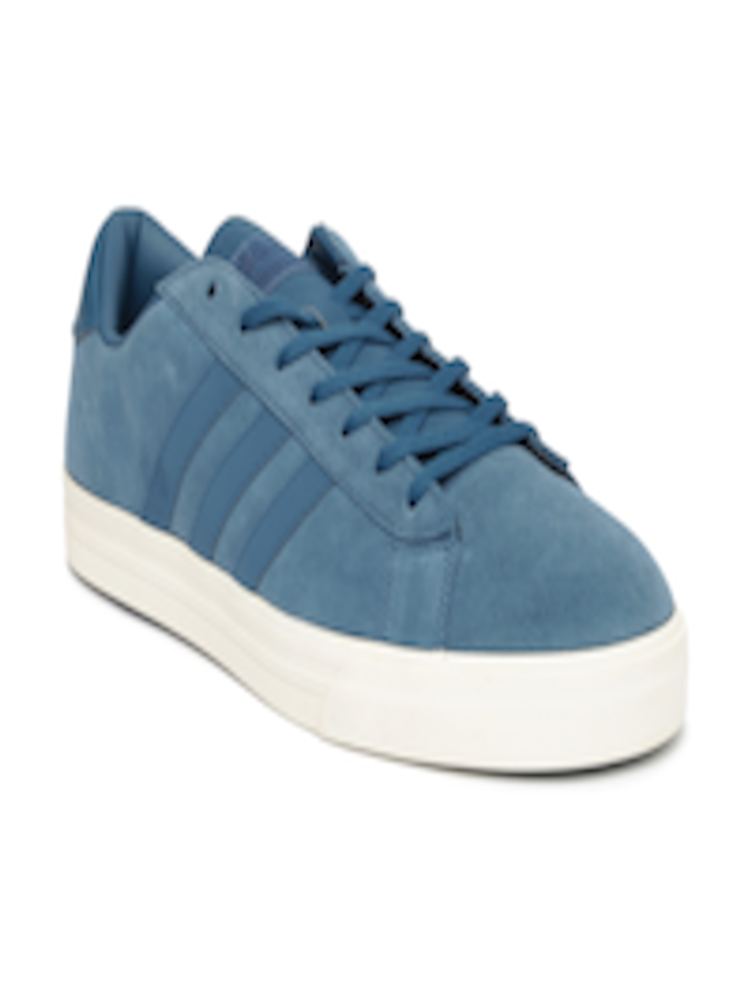 6c4d51d159b Buy ADIDAS NEO Men Blue Solid Suede Leather Cloudfoam Super Daily Sneakers  - Casual Shoes for Men 1731091