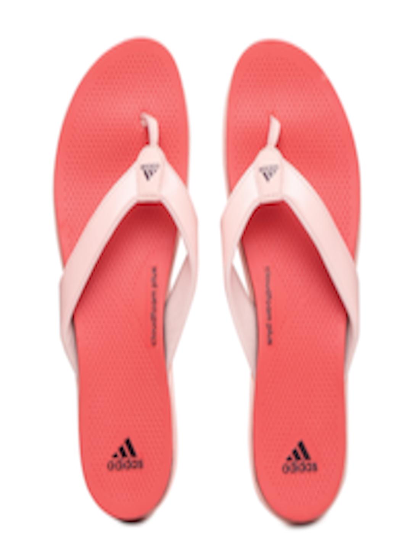 Buy Adidas Women Pink  Orange Cloudfoam Plus Flip Flops -7528