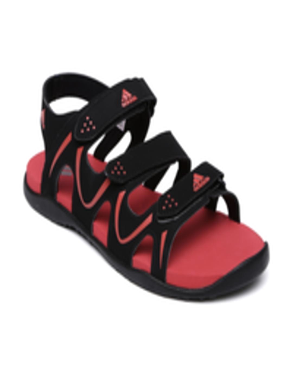 c6bf6aaf2557e7 ... Buy Adidas Men Black Red Bustel Sandals - Sandals for Men 1731273  Myntra factory outlets fcf60 ...