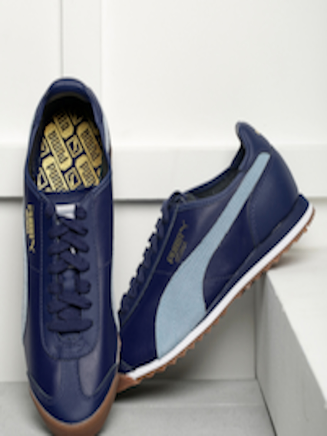 Buy Puma Men Blue Roma OG 80s Sneakers - Casual Shoes for Men 1736677  58be91834