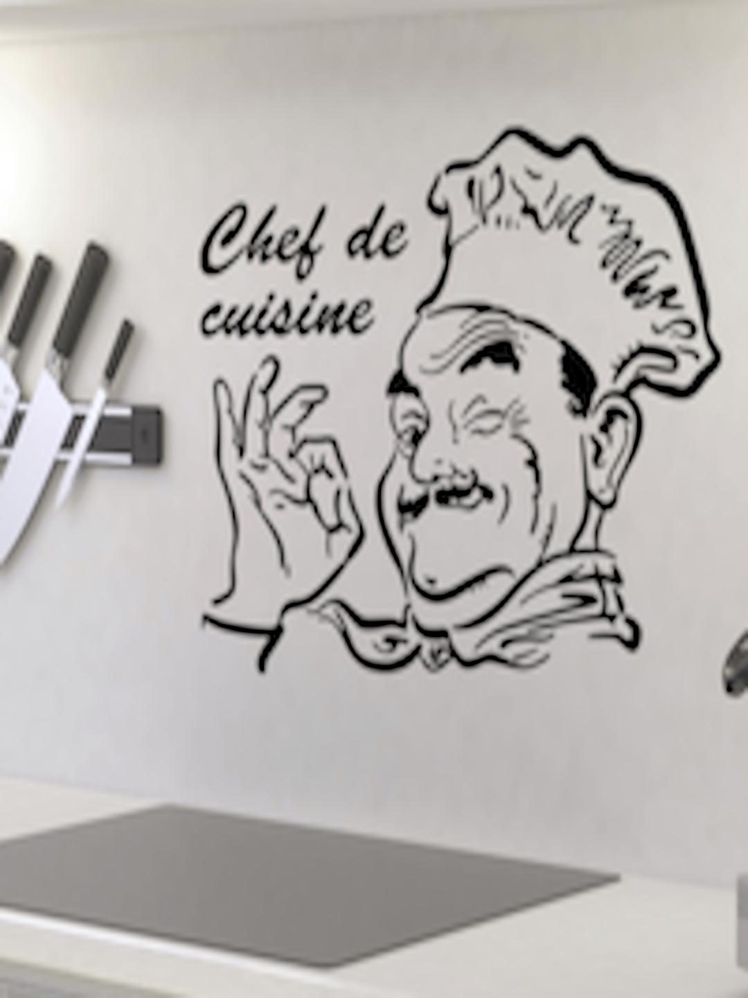Buy Aspire Black Chef De Cuisine Wall Sticker   Decals And Stickers For  Unisex 1742486 | Myntra