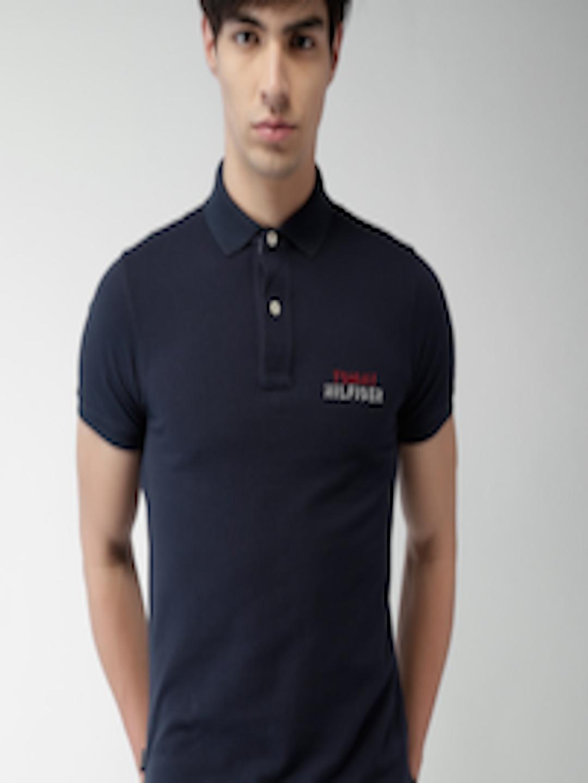 Buy Tommy Hilfiger Navy Slim Fit Polo T Shirt - Tshirts ...
