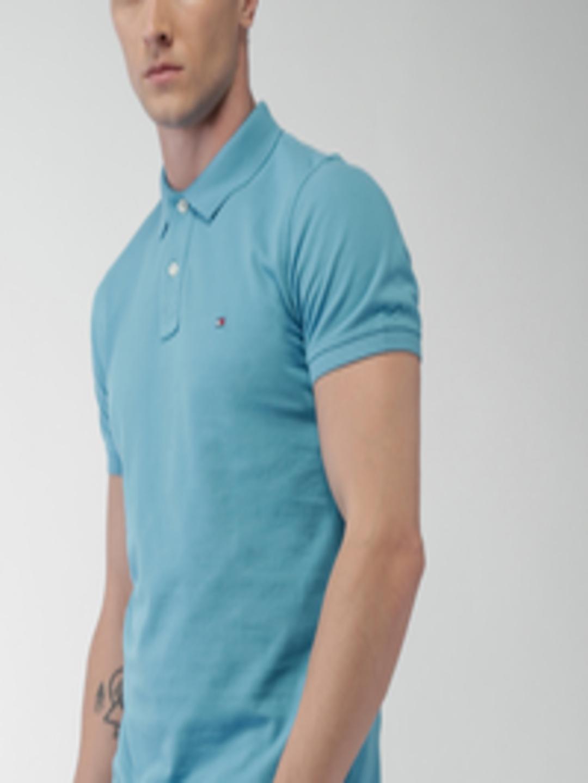 Buy Tommy Hilfiger Blue Slim Fit Polo T Shirt - Tshirts ...