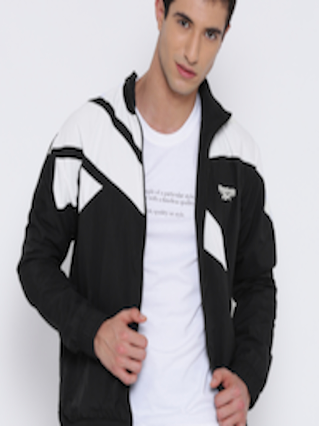 61c25ef2c7 Buy Reebok Classic Black & White LF Vector Colourblocked Track Jacket - -  Apparel for Men