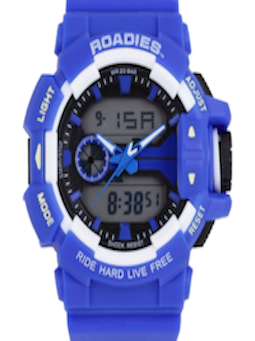 2cded5036 Buy Roadies Men Blue Digital & Analogue Chronograph Watch R18063BL - Watches  for Men 1755626 | Myntra