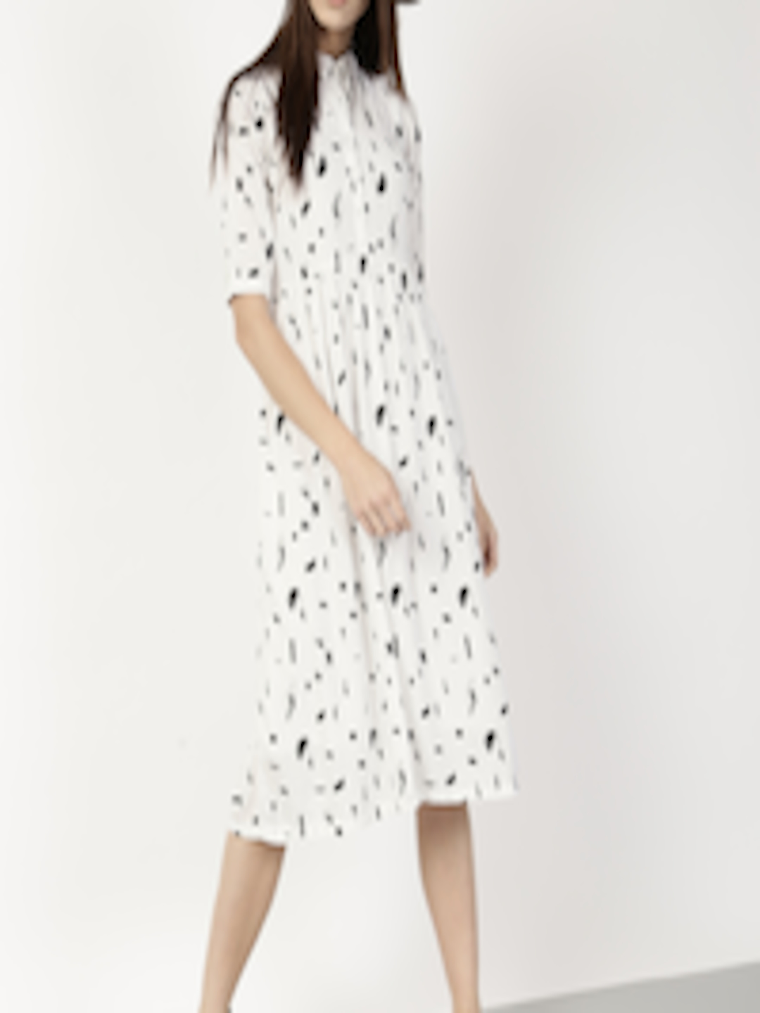 8105385a59a Buy Ether Women White Printed Shirt Dress - Dresses for Women 1755934