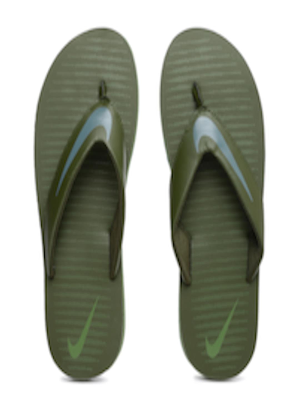 Buy Nike Men Olive Green Chroma Thong 5 Flip Flops - Flip -8161