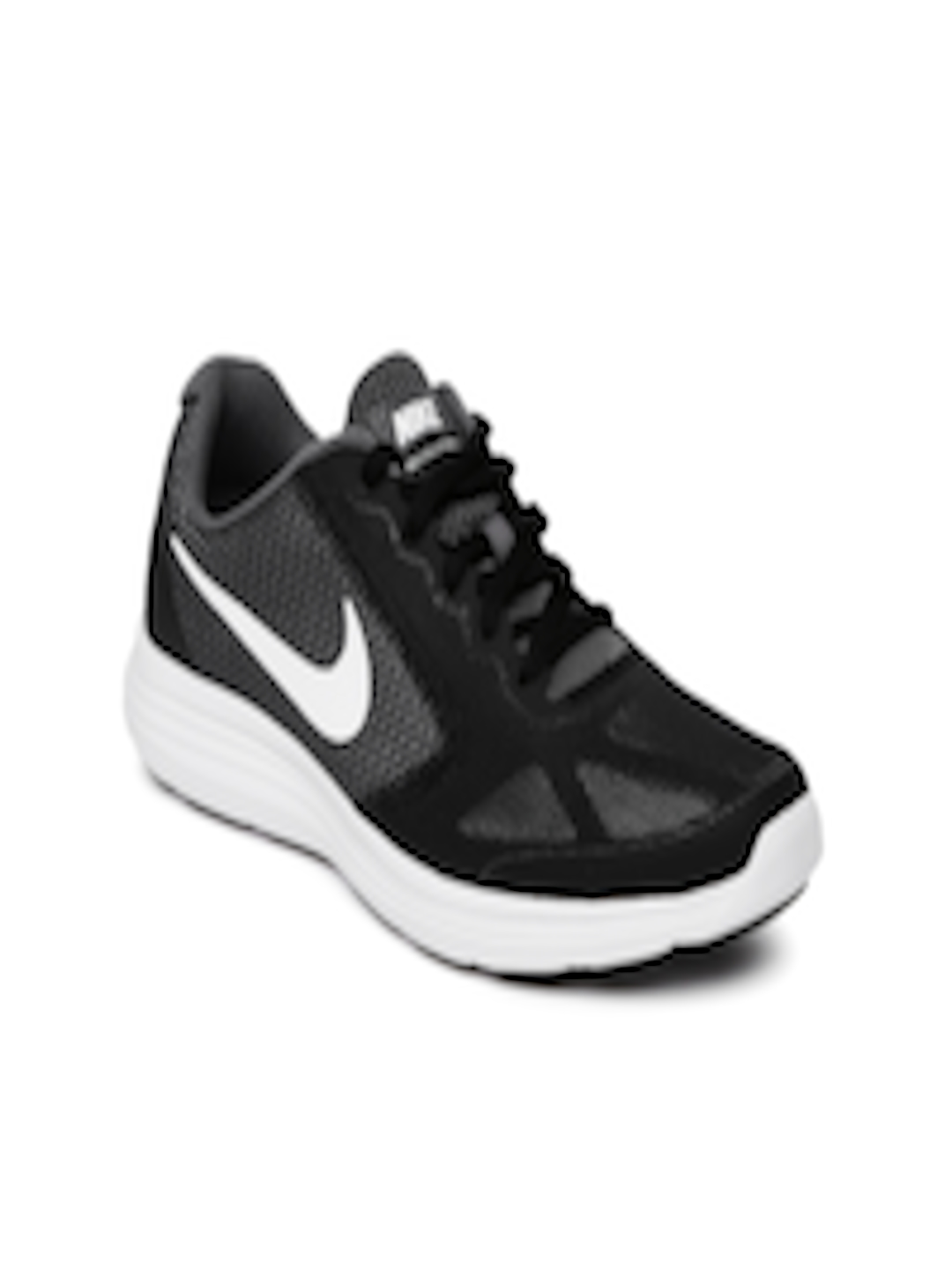 new arrival f4e20 f2687 Buy Nike Boys Charcoal Grey  Black Revolution 3 (GS) Running Shoes - Sports  Shoes for Boys 1756796  Myntra