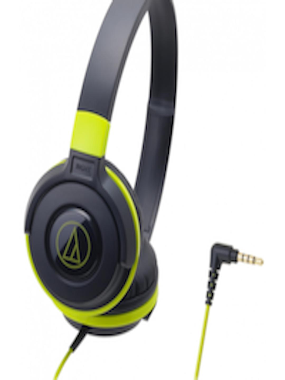 Buy Audio Technica Unisex Black Amp Lime Green Headphones