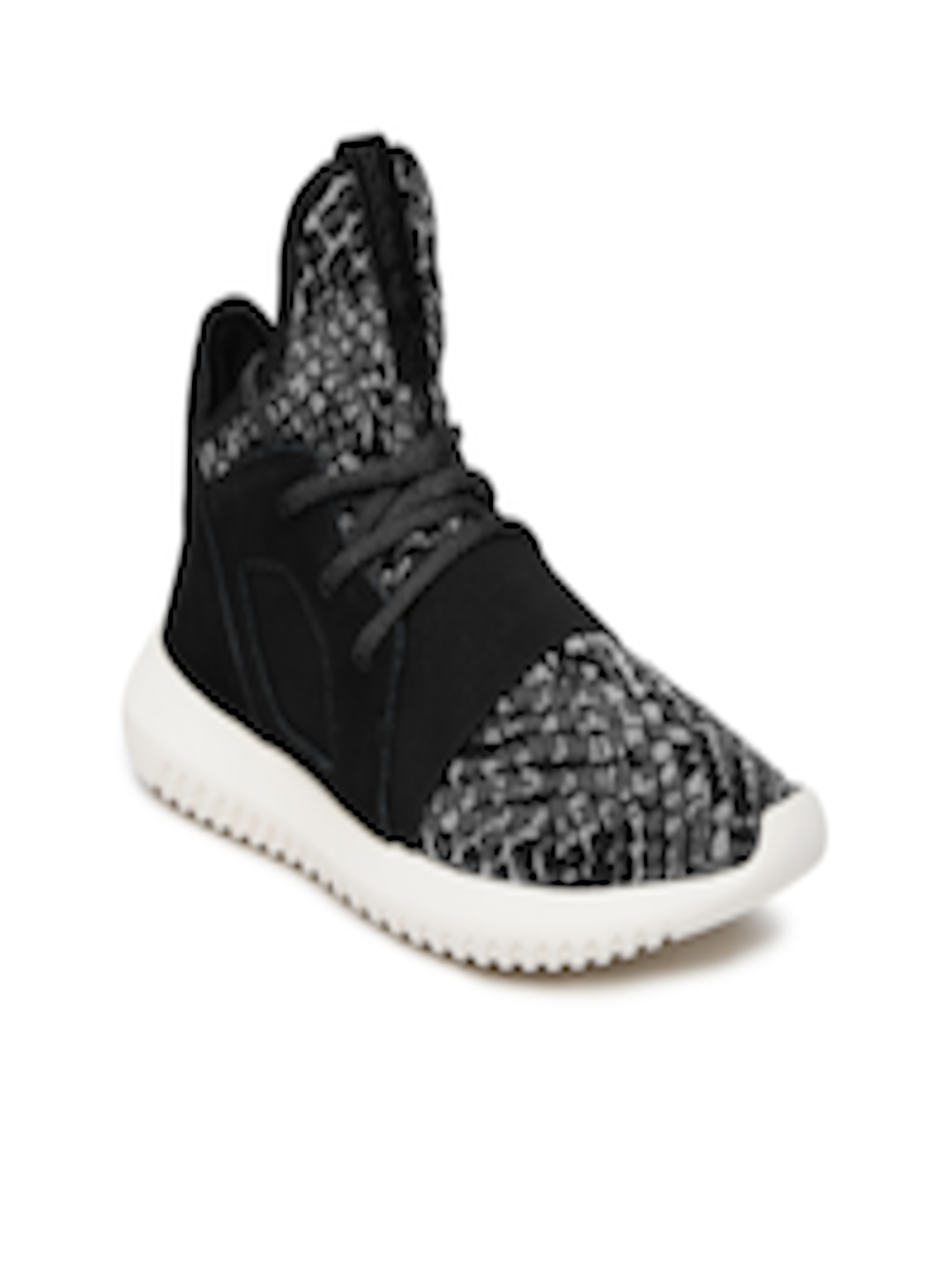 differently 504e2 e6dcb ADIDAS Originals Women Black Tubular Defiant W Woven Mid-Top Sneakers
