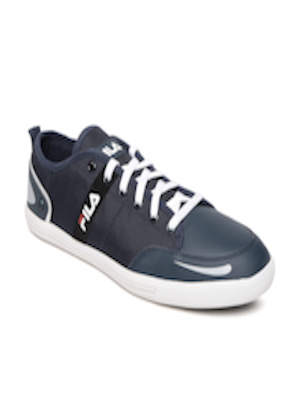 Buy FILA Men Navy Blue Solid Regular Destroy IV Sneakers Footwear for Men