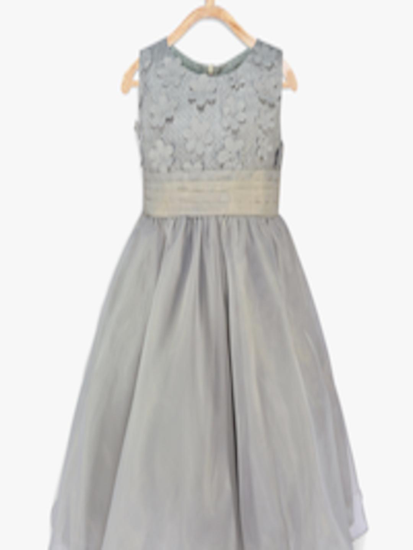 Buy Pspeaches Girls Grey Fit Amp Flare Dress Dresses For