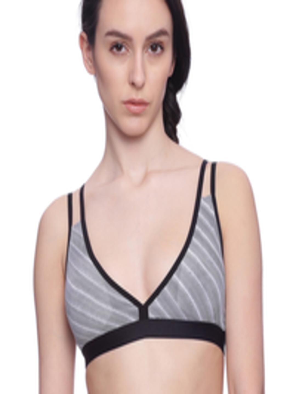 d96d5c78312da Buy BRAG White Black   White Printed Plunge Neck Cage Back T Shirt Bralette  BLC04BK01 - Bra for Women 1794741