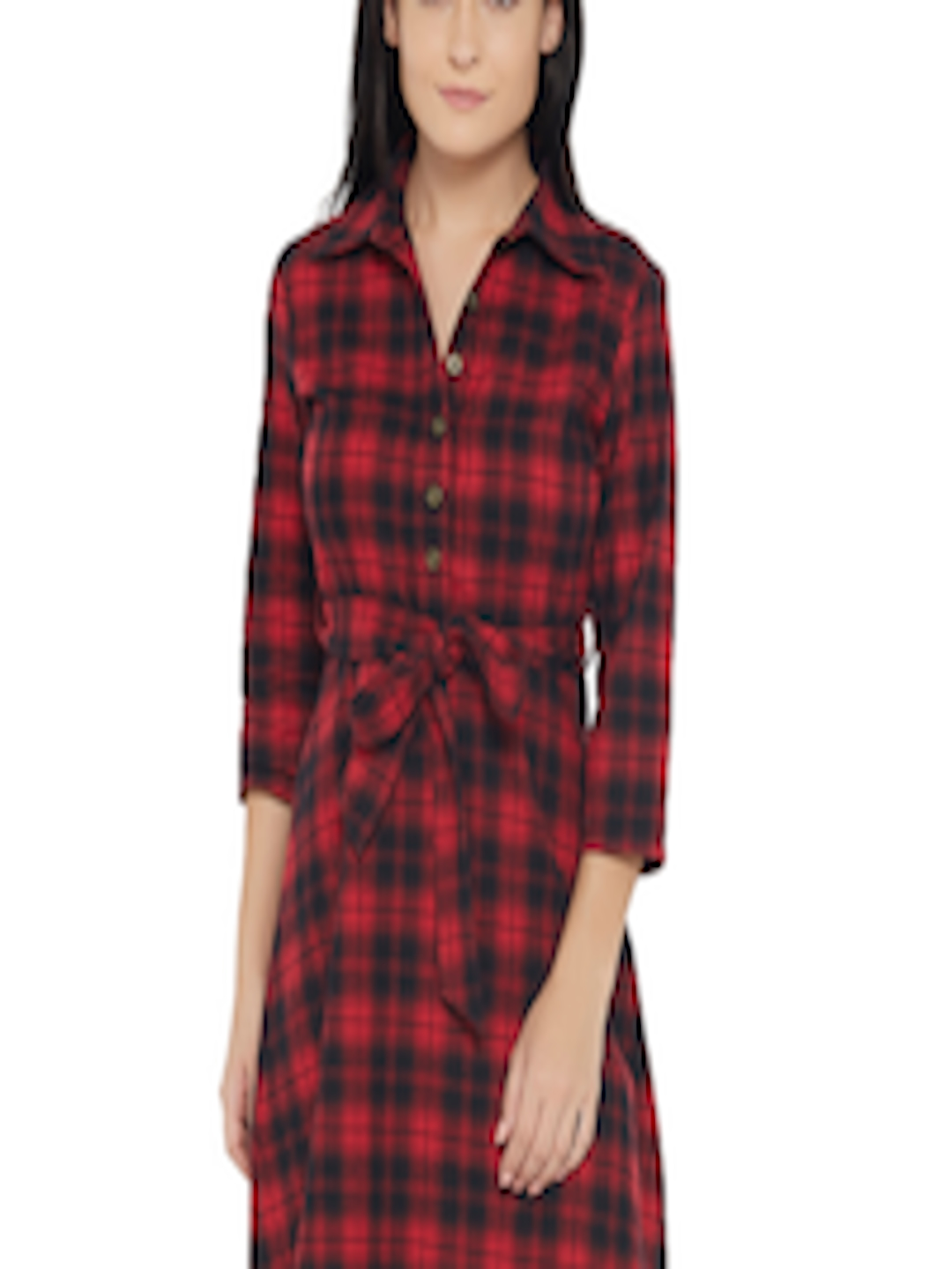 4b9583df711b Buy 20Dresses Women Red & Black Checked Shirt Dress - Dresses for Women  1814678 | Myntra